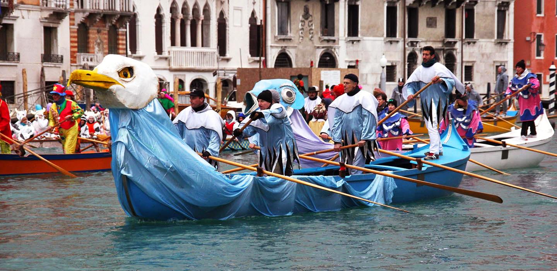 Парад гондол Венеция